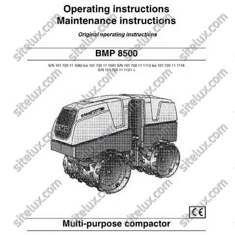Bomag BMP 8500 Multi-purpose compactor Operating