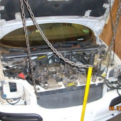2004 Chevy Impala Wiring Diagram 1977 Ford Bronco Chevyventure Hanging Via 'comealongs' From Overhead Beam