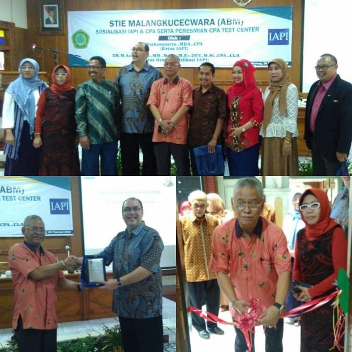 Sosialisasi IAPI & CPA serta Peresmian CPA Test Center - PPA STIE Malangkucecwara