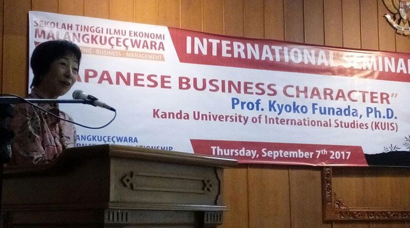 Kuliah Tamu oleh Prof. Kyoko Funada, Ph.D. dari Kanda University of International Studies