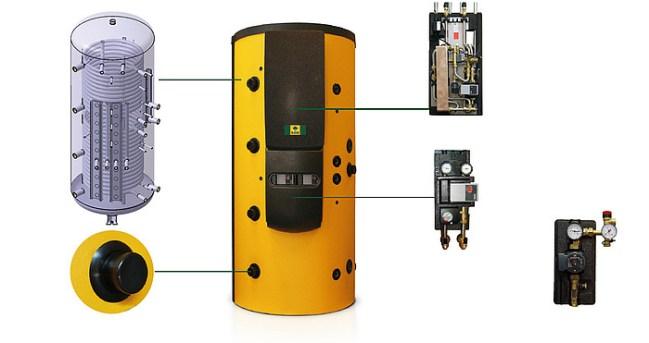 Accumulatore stratificato KWB EmpaCompact per caldaia a biomassa