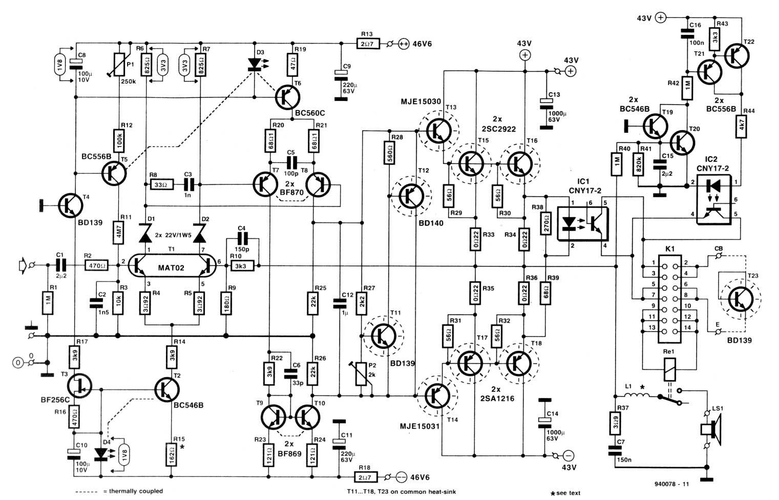 high power car amplifier circuit