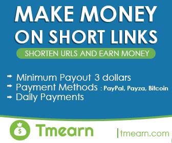 TMEARN Encurtador de Links! Paga até 12 Dollares por 1000 Clicks 2018