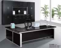 modern hi-class black office executive table furniture ...