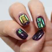 decoration nail sticker-glass film