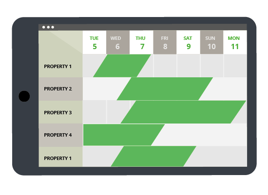 master calendar for vacation rentals