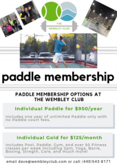 Paddle membership information