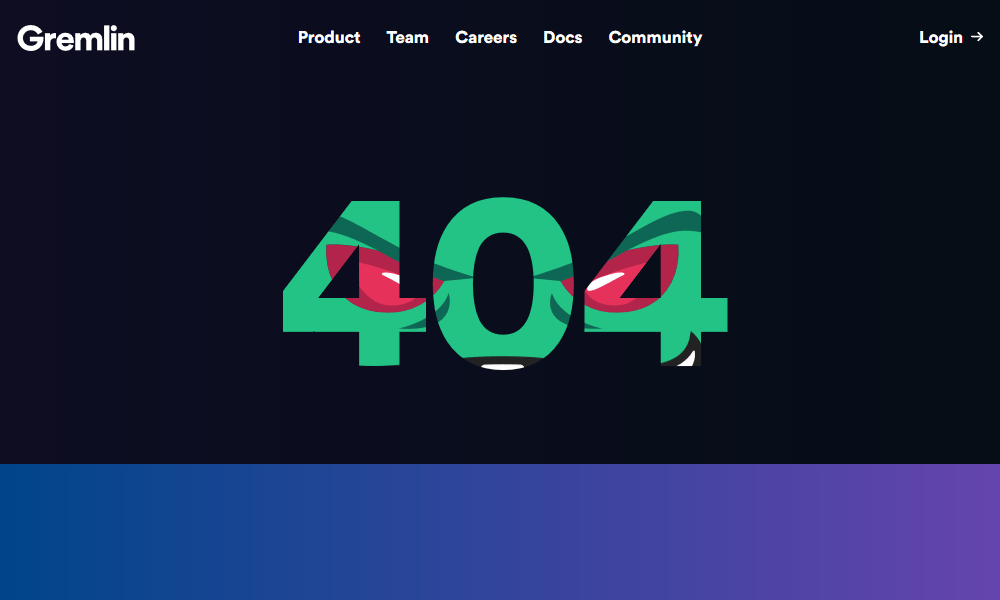 Best 404 pages: Gremlin