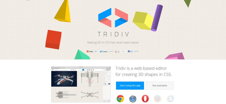 Tridiv CSS 3D Editor