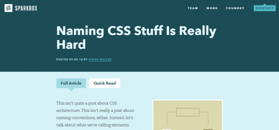 Naming CSS Stuff Is Really Hard   Sparkbox   Web Design and Development