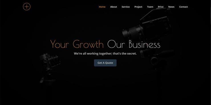 Bizplus - One Page Parallax Web3Canvas