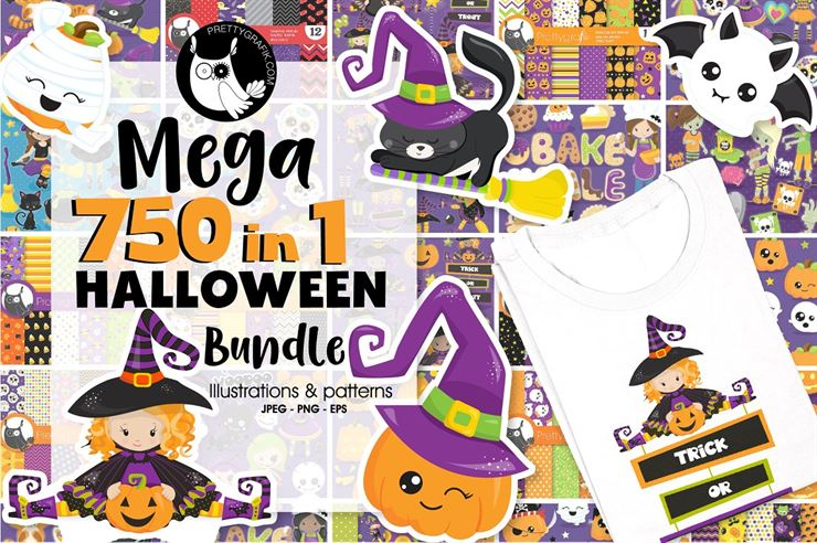 750 in 1 - Graphic Halloween Bundle Web3Canvas