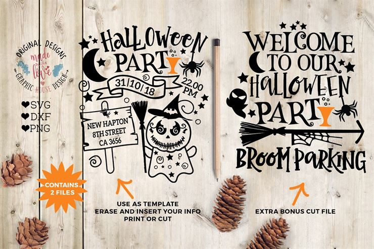 Halloween Party Template, Cut File Web3Canvas