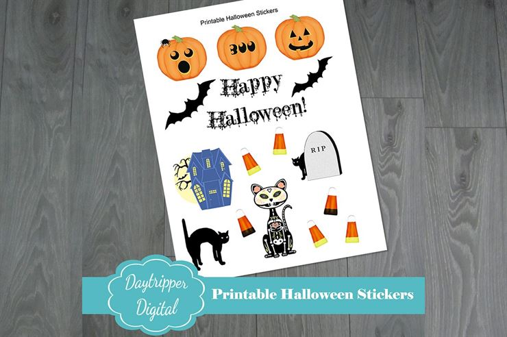 Halloween Printable Stickers Web3Canvas