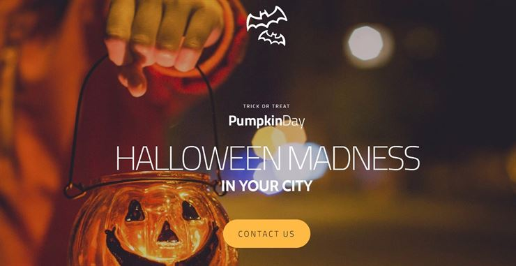Halloween Responsive Moto CMS 3 Template Web3Canvas