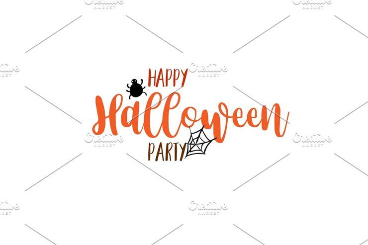 Happy Halloween Party Title Logo-4 Web3Canvas