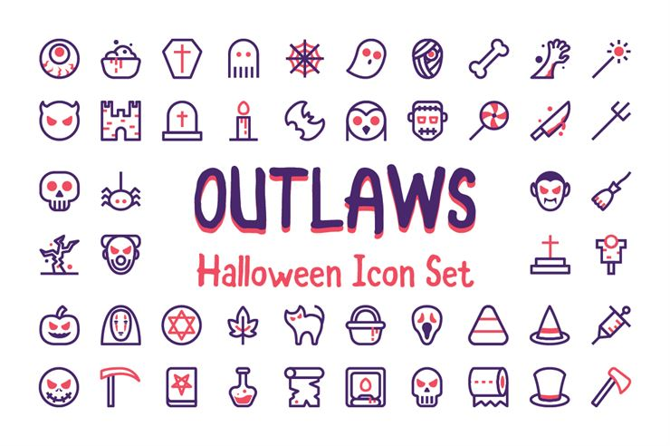 Outlaws Halloween Icons Web3Canvas