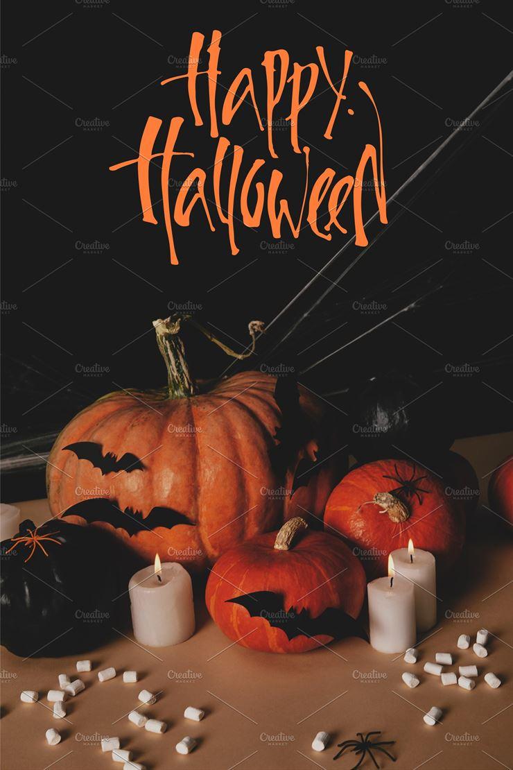 Pumpkins, Paper bats, and Spider Web3Canvas