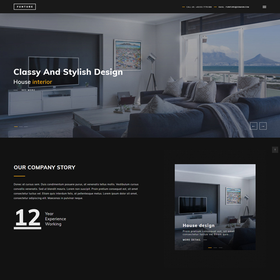FUNTURE - Interactive Architecture Website Template