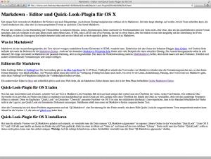 Mit Markdown erstellte HTML-Datei exportiert