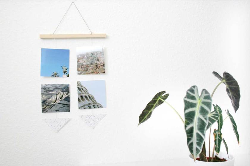 Design-Mobilé aus Urlaubsfotos