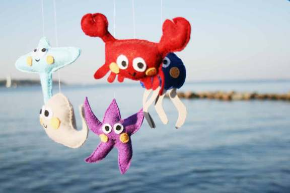 Krabbe, Qualle, Rochen, Seestern und Wal. Foto: Julia Marre