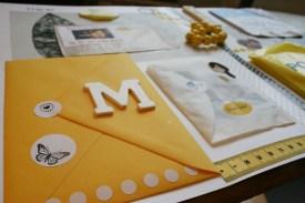 Im großen Umschlag gibt's einen persönlichen Liebesbrief