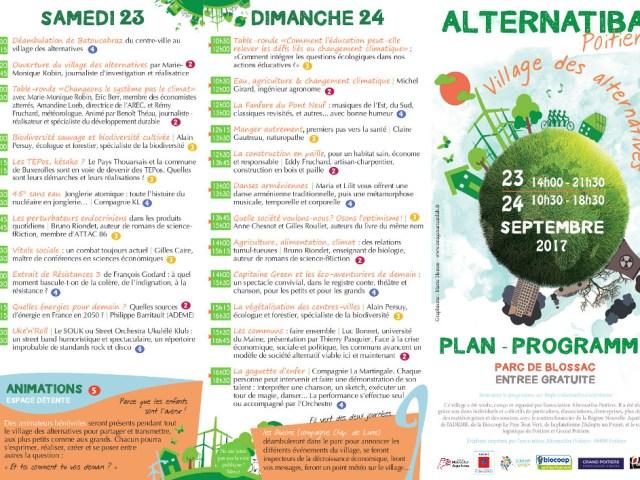 Le programme complet d'Alternatiba Poitiers est sorti !