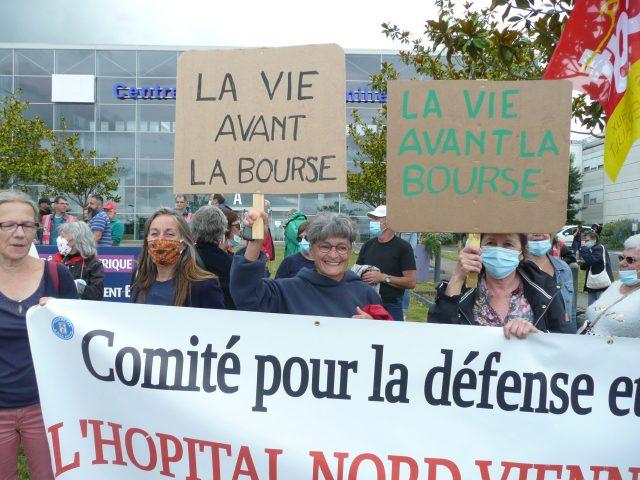 Manifestation soignants et soutien des patients Châtellerault 16 juin 2020