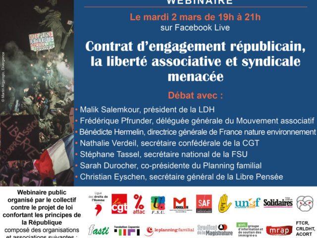 Dans la Vienne et ailleurs : webinaire sur le «contrat d'engagement républicain»