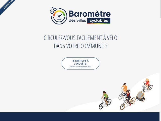 La 3e édition du Baromètre des villes cyclables est lancée !
