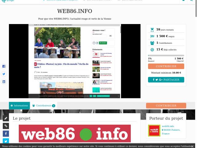 Financement participatif de web86.info. Ça y est ! C'est parti !