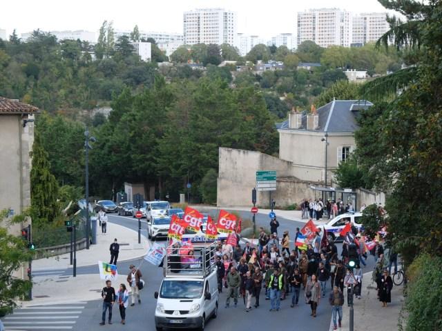 Manifestation intersyndicale à Poitiers