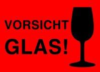 """Aufkleber """"VORSICHT GLAS!"""" - Altnernat. Vorsicht Glas ..."""