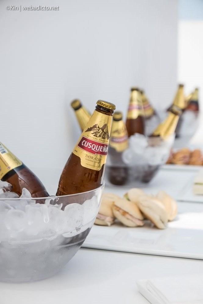 cerveza cusqueña en evento de linio