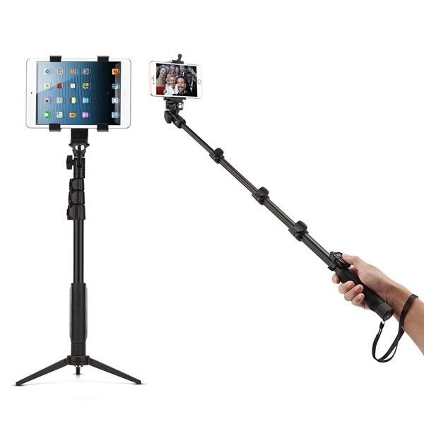palo para selfie con tablet