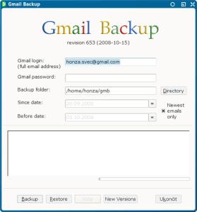 Respaldar correos de Gmail con Gmail Backup