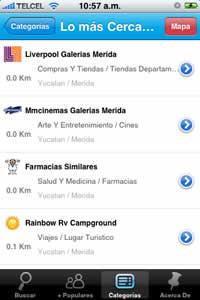 Restaurantes de mexico y otros negocios en tu iPhone