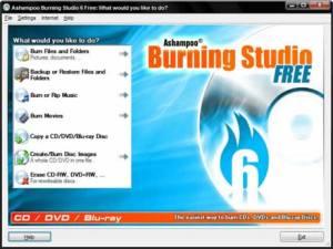 Grabar dvd, cds y bluray con Ashampoo Burning studio free