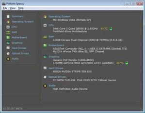 Informacion del hardware de tu pc con Speccy