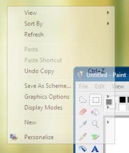 Menus transparentes en Windows