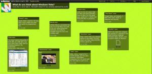 Crea tu muro de notas online con Wallwisher
