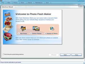 Crear slideshows de fotos con Photo flash maker
