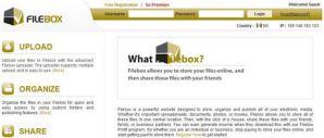 Compartir archivos online con FileBox