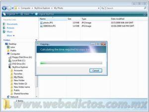 Windows SkyDrive desde tu explorador de windows