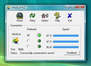 Usa Ultrasurf para acceder a sitios bloqueados