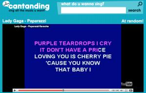 Karaoke online, cantanding