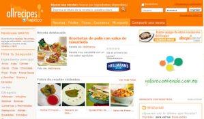 Red social de recetas de cocina, AllRecipes