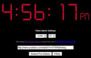 Alarma online, Video Alarm ClockVideo