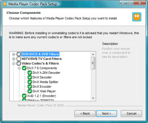 Codecs de video, Media Player Codec Pack
